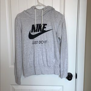 Nike black and white cowl neck hoodie.